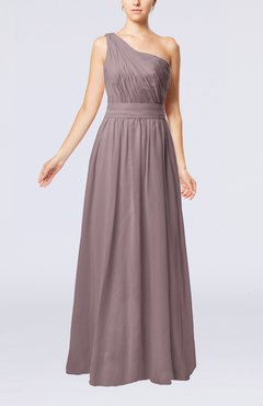 Cameo Modest Sleeveless Zipper Chiffon Floor Length Evening Dresses