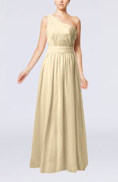 Champagne Modest Sleeveless Zipper Chiffon Floor Length Evening Dresses