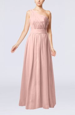 Dusty Rose Modest Sleeveless Zipper Chiffon Floor Length Evening Dresses