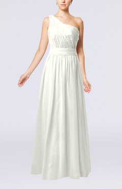 Ivory Modest Sleeveless Zipper Chiffon Floor Length Evening Dresses