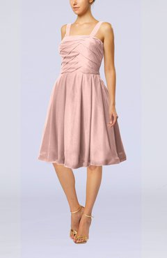 Dusty Rose Modest A-line Thick Straps Sleeveless Knee Length Little Black Dresses