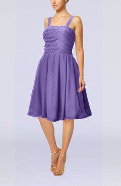 Lilac Modest A-line Thick Straps Sleeveless Knee Length Little Black Dresses