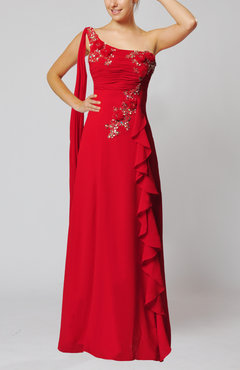 Red Sexy Sheath Backless Floor Length Paillette Evening Dresses