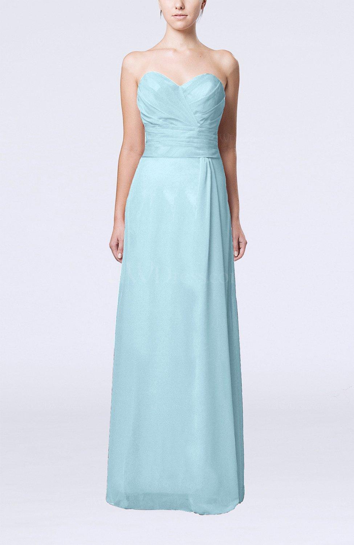 Aqua elegant column sweetheart sleeveless draped wedding for Elegant guest wedding dresses