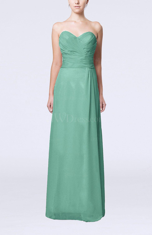 Mint green elegant column sweetheart sleeveless draped for Mint wedding guest dress