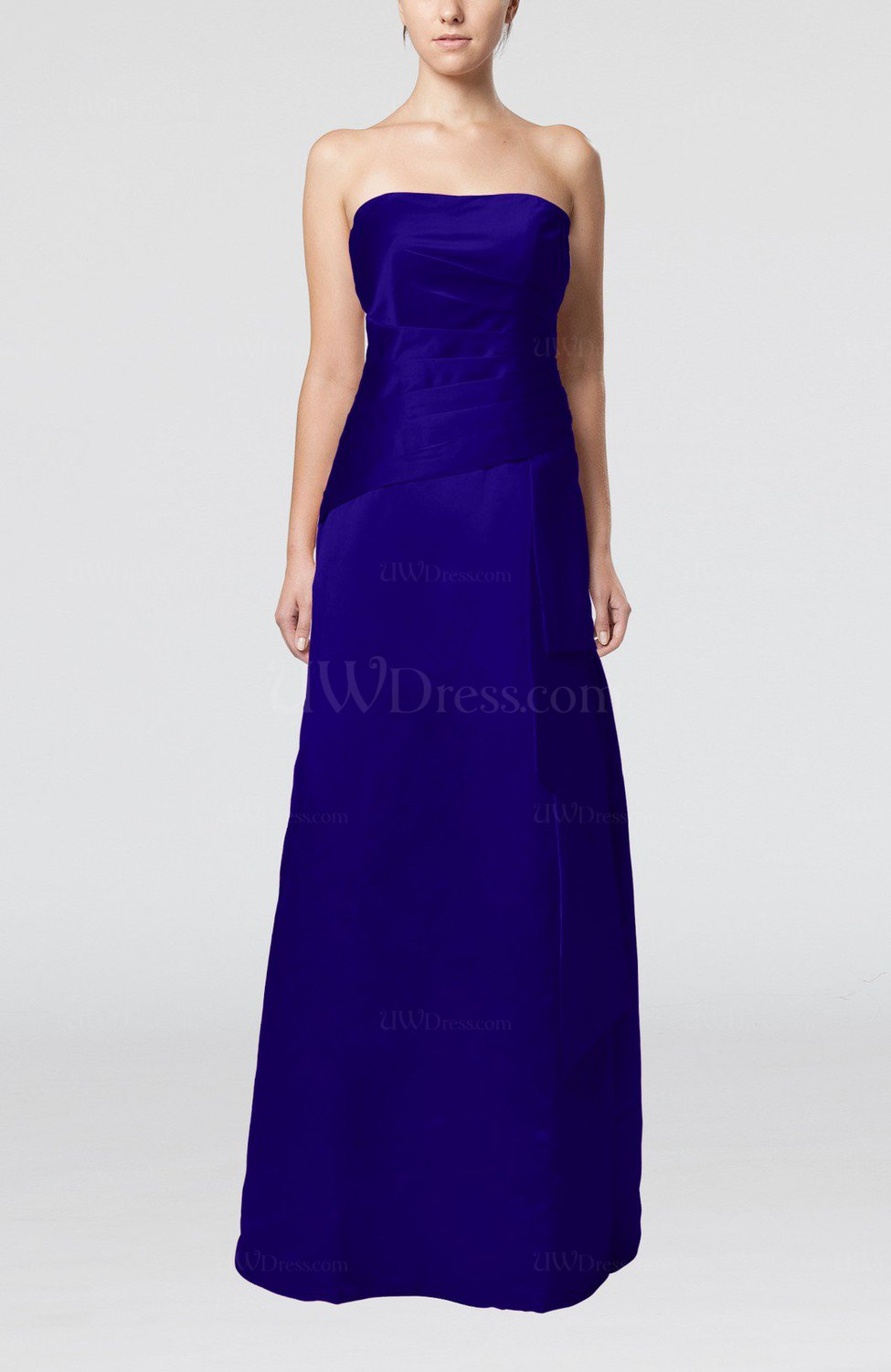 Electric blue elegant sheath sleeveless backless satin for Backless wedding guest dresses
