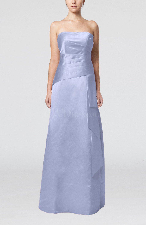 Ice blue elegant sheath sleeveless backless satin ruching for Elegant satin wedding dresses