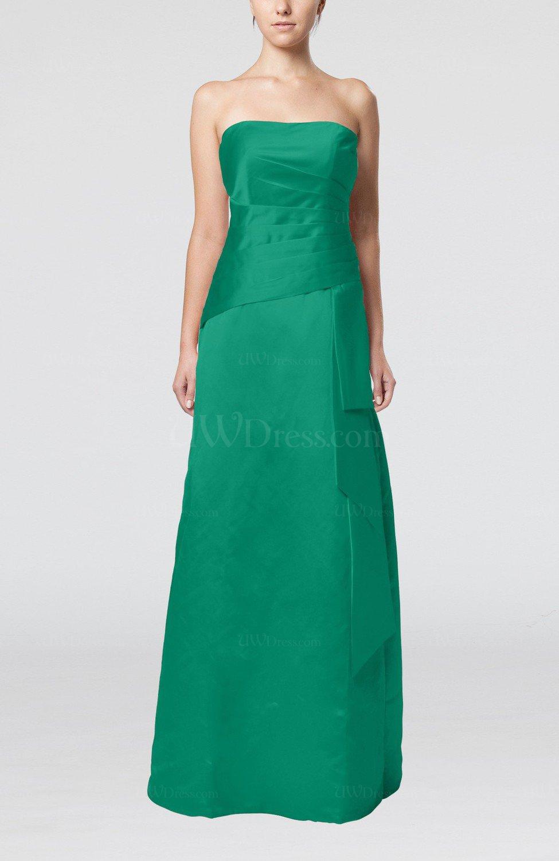 Mint elegant sheath sleeveless backless satin ruching for Mint wedding guest dress