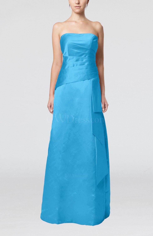 Turquoise elegant sheath sleeveless backless satin ruching for Turquoise wedding guest dress