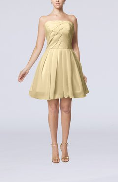 Champagne Cute Backless Chiffon Mini Ruching Homecoming Dresses