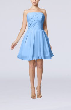 Black Backless Dress on Light Blue Cute Backless Chiffon Mini Ruching Homecoming Dresses