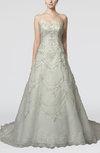 Elegant Hall A-line Strapless Sleeveless Organza Bridal Gowns