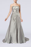 Glamorous Church Sweetheart Sleeveless Lace up Court Train Pleated Bridal Gowns
