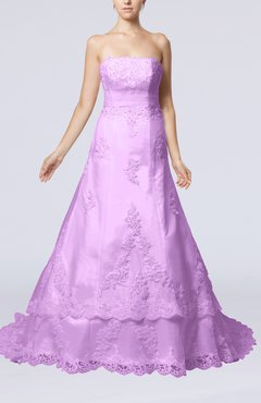 Begonia Disney Princess Garden Strapless Sleeveless Lace up Organza Court Train Bridal Gowns