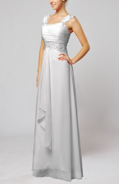 White Informal Outdoor Thick Straps Sleeveless Zip up Floor Length Bridal Gowns