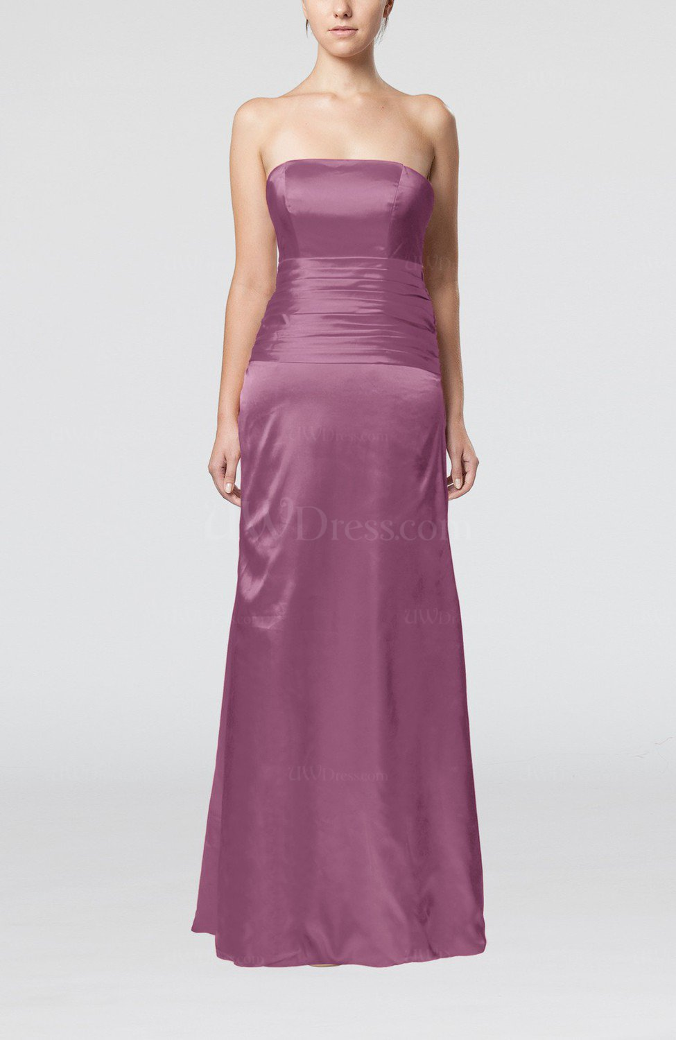 Argyle purple elegant strapless backless silk like satin for Satin silk wedding dresses