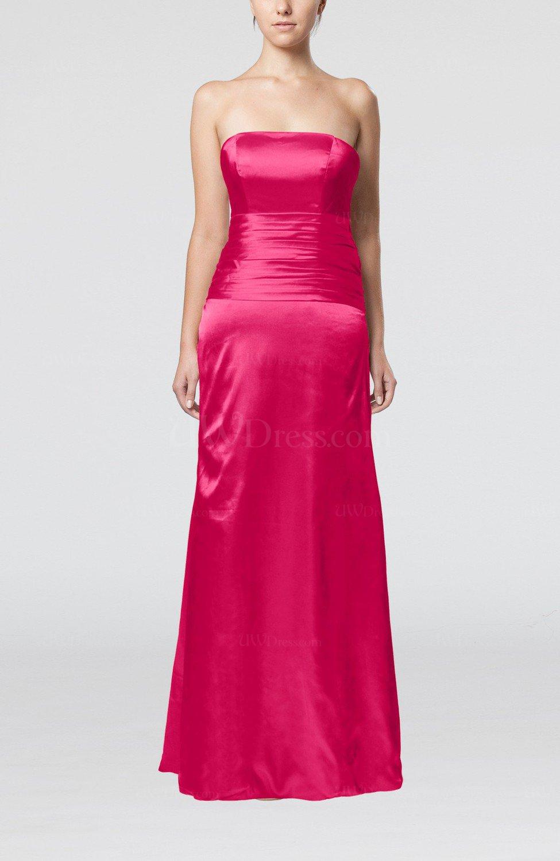 Sangria elegant strapless backless silk like satin ribbon for Strapless backless wedding dress