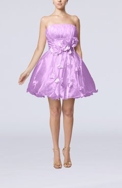 Begonia Cinderella Sleeveless Backless Organza Mini Flower Homecoming Dresses