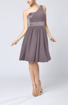 Cameo Modern A-line One Shoulder Sleeveless Chiffon Bridesmaid Dresses