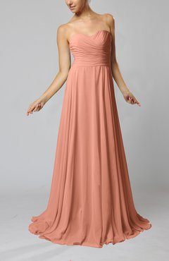 Salmon color evening dresses