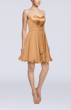 Burnt Orange Sexy A-line Zip up Mini Ribbon Graduation Dresses