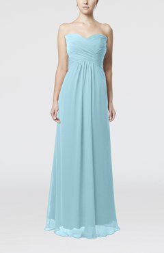 Aqua Simple Empire Sweetheart Zipper Ruching Bridesmaid Dresses