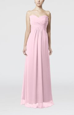 Blush Simple Empire Sweetheart Zipper Ruching Bridesmaid Dresses