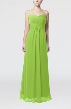 Bright Green Simple Empire Sweetheart Zipper Ruching Bridesmaid Dresses