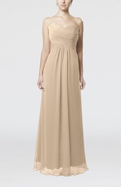 Champagne Simple Empire Sweetheart Zipper Ruching Bridesmaid Dresses