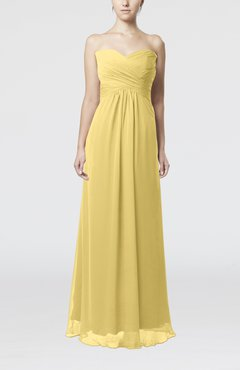 Daffodil Simple Empire Sweetheart Zipper Ruching Bridesmaid Dresses