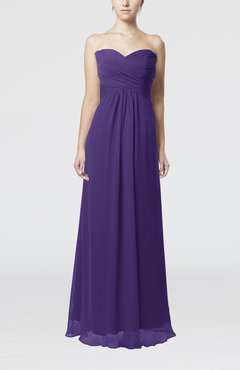 Dark Purple Simple Empire Sweetheart Zipper Ruching Bridesmaid Dresses