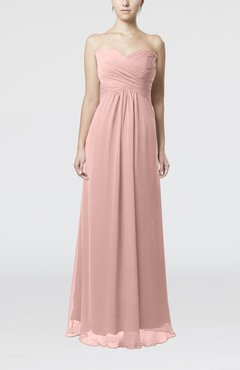 Dusty Rose Simple Empire Sweetheart Zipper Ruching Bridesmaid Dresses