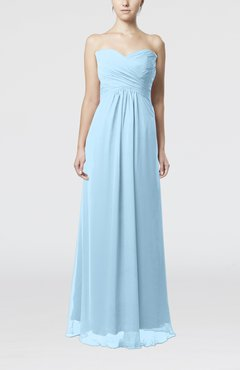 Ice Blue Simple Empire Sweetheart Zipper Ruching Bridesmaid Dresses
