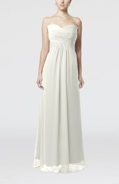 Ivory Simple Empire Sweetheart Zipper Ruching Bridesmaid Dresses