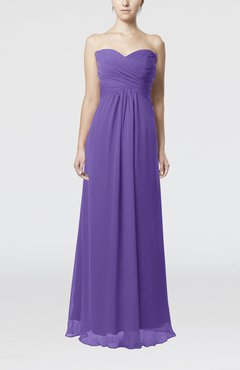 Lilac Simple Empire Sweetheart Zipper Ruching Bridesmaid Dresses