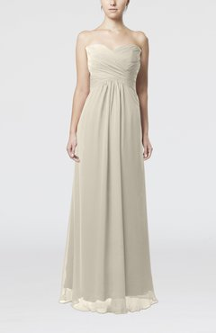 Off White Simple Empire Sweetheart Zipper Ruching Bridesmaid Dresses