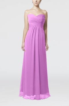 Orchid Simple Empire Sweetheart Zipper Ruching Bridesmaid Dresses