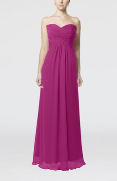 Raspberry Simple Empire Sweetheart Zipper Ruching Bridesmaid Dresses