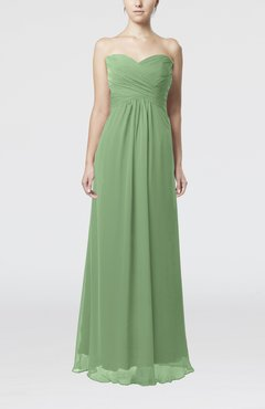 Sage Green Simple Empire Sweetheart Zipper Ruching Bridesmaid Dresses