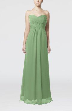 Sage Green Simple Empire Sweetheart Zipper Ruching Bridesmaid Dresses