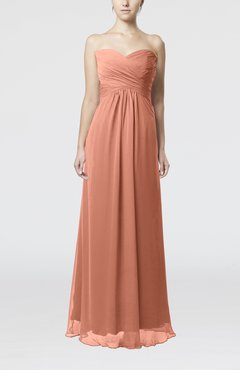 Salmon Color Bridesmaid Dresses - UWDress.com