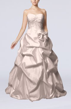 Blush Fairytale Outdoor Strapless Sleeveless Zip up Taffeta Floor Length Bridal Gowns