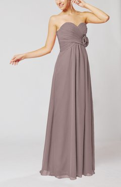 Cameo Simple Sheath Sweetheart Sleeveless Chiffon Floor Length Bridesmaid Dresses