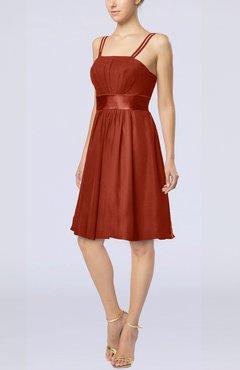 Colsbm Diana Rust Modest Empire Thick Straps Zipper Floor Length Ruching Prom Dresses