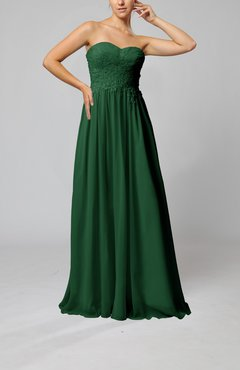 Hunter Green Elegant Sleeveless Zip up Chiffon Pleated Wedding Guest Dresses