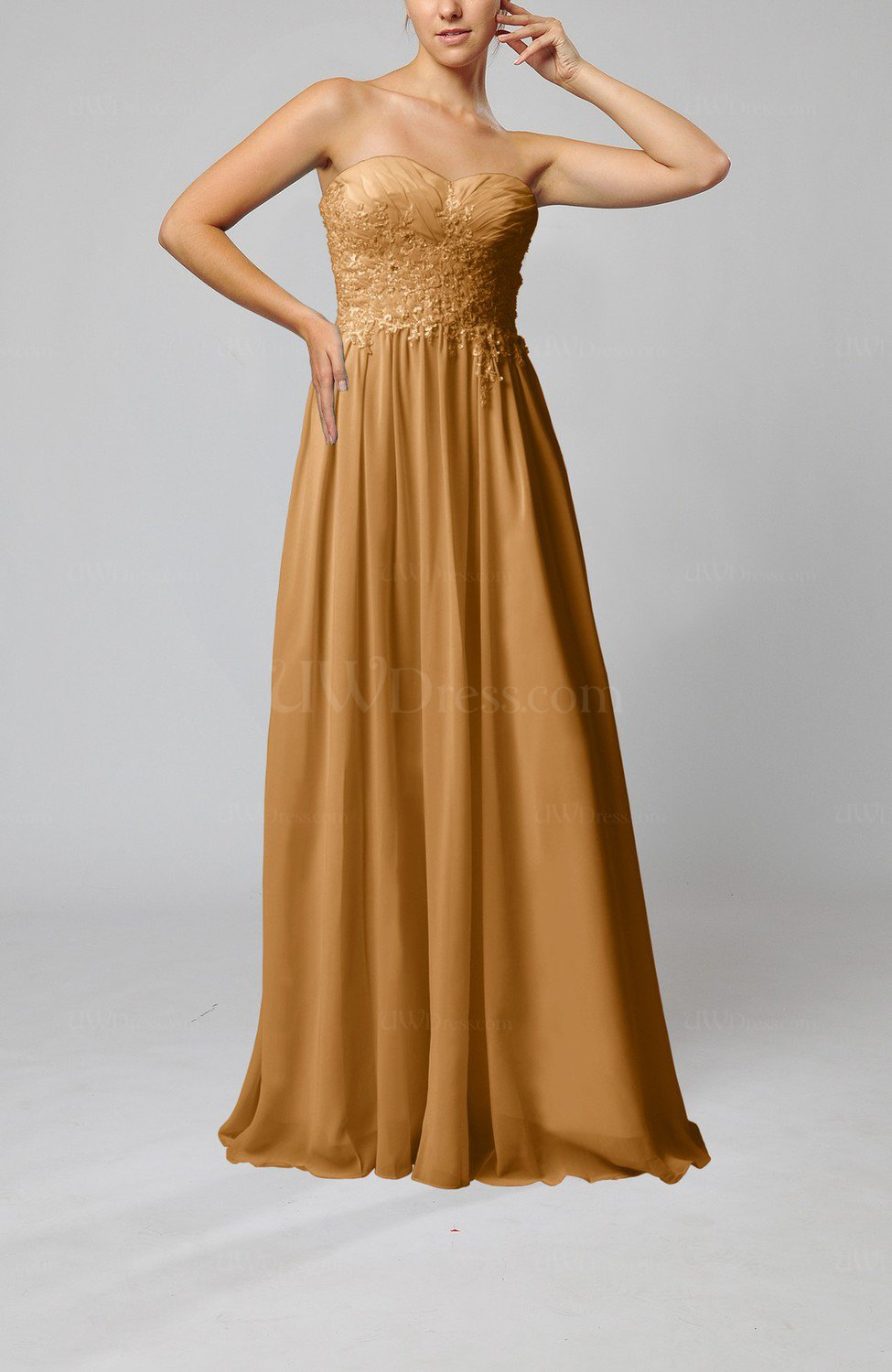 Light brown elegant sleeveless zip up chiffon pleated for Brown dresses for wedding guest