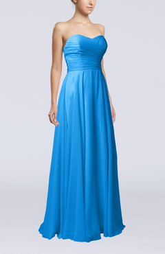 Cornflower Blue Plain Sheath Sweetheart Sleeveless Backless Evening Dresses