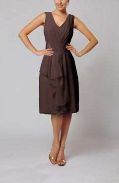Chocolate Brown Cocktail Dress - UWDress.com