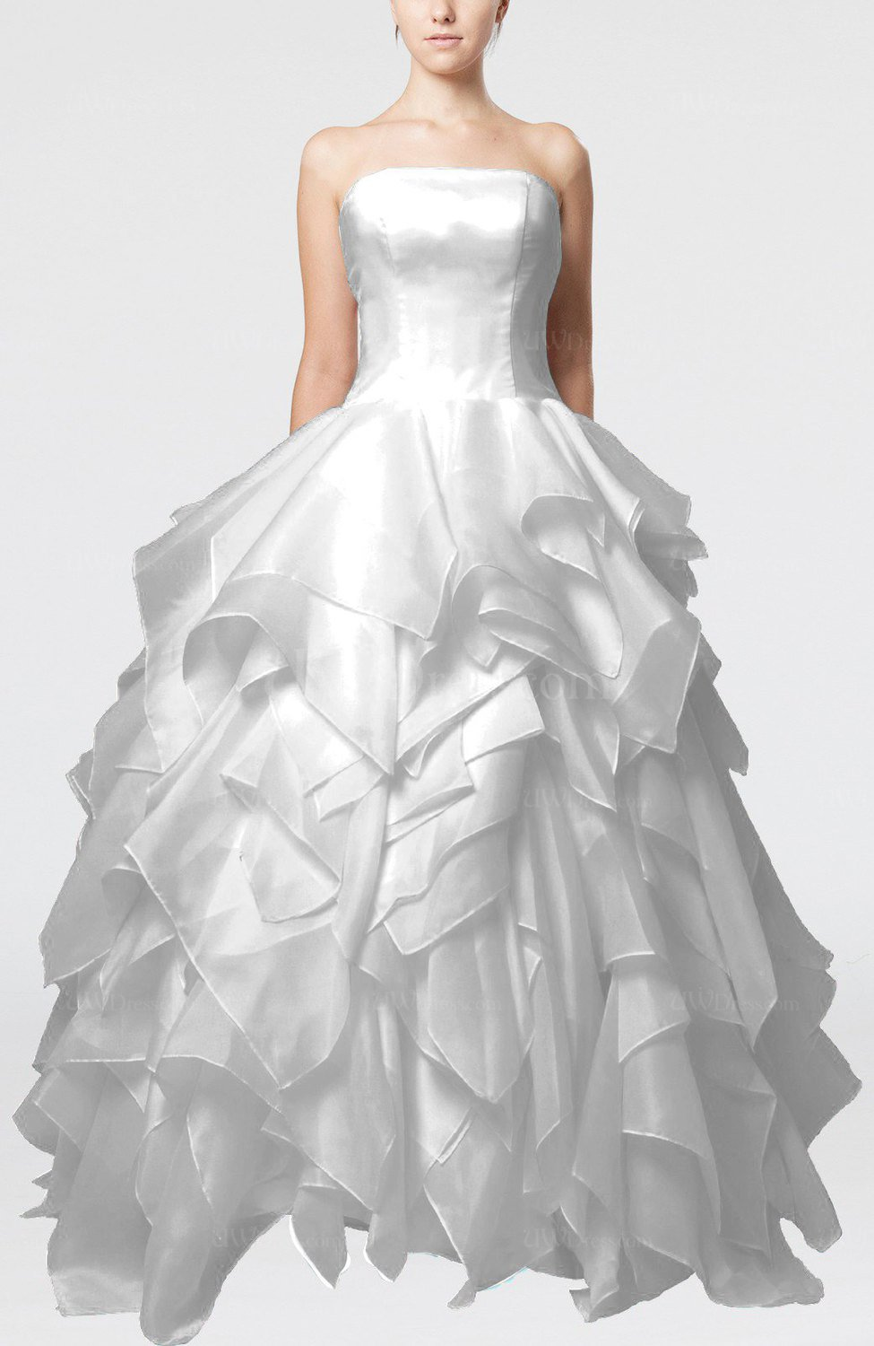 White disney princess outdoor princess sleeveless backless for Designer disney wedding dresses