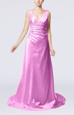 Begonia Elegant Garden Sheath Sleeveless Elastic Woven Satin Court Train Beaded Bridal Gowns